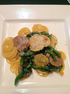 orecchetti with sausage and broc rabe